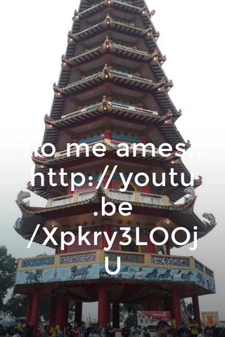 no me ames.. http://youtu.be/Xpkry3LOOjU