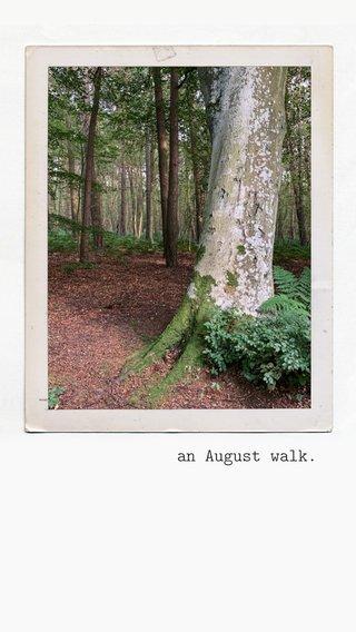 an August walk.
