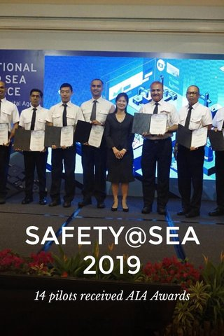 SAFETY@SEA 2019 14 pilots received AIA Awards