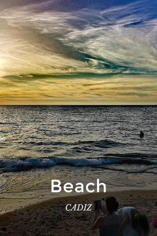 Beach CADIZ