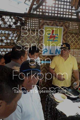 Bupati Sangihe dan Forkopimda Demo Masak pakai kompor Induksi Tahuna, 11 September 2019