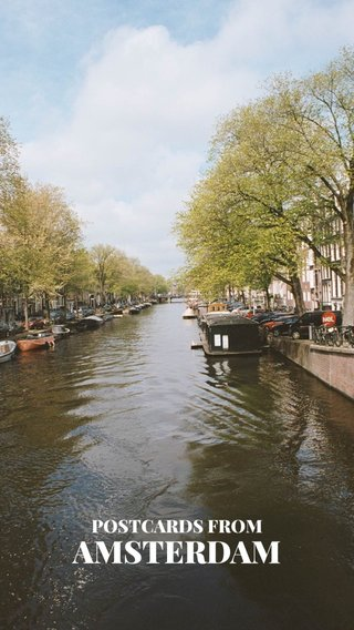 AMSTERDAM POSTCARDS FROM