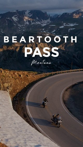 PASS BEARTOOTH Montana