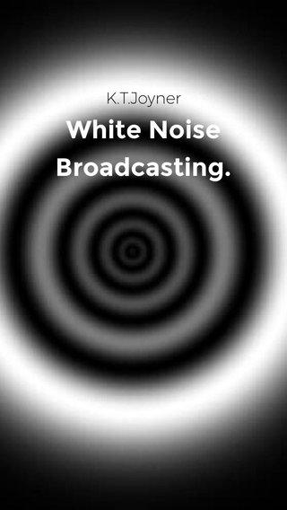White Noise Broadcasting. K.T.Joyner