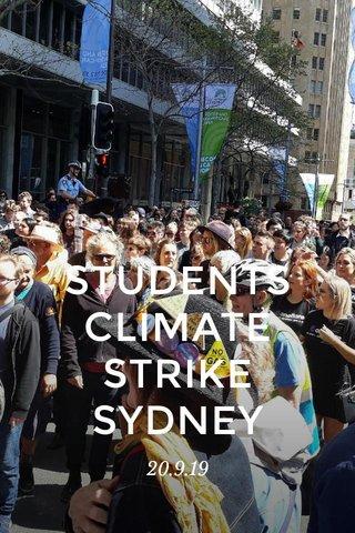 STUDENTS CLIMATE STRIKE SYDNEY 20.9.19