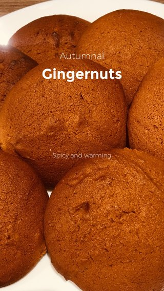 Gingernuts Autumnal Spicy and warming