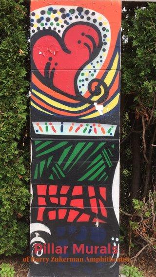 Pillar Murals of Barry Zukerman Amphitheatre