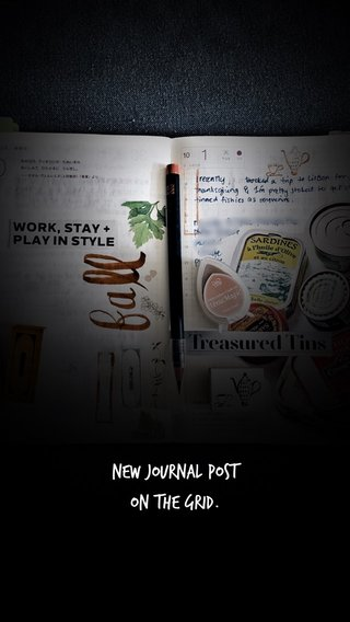 New Journal Post on the Grid.