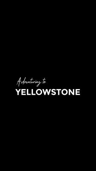 YELLOWSTONE Adventuring to