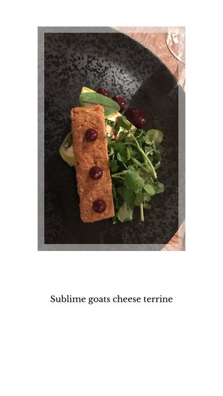 Sublime goats cheese terrine