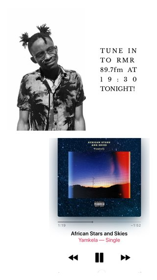 TUNE IN TO RMR 89.7fm AT 19:30 TONIGHT!