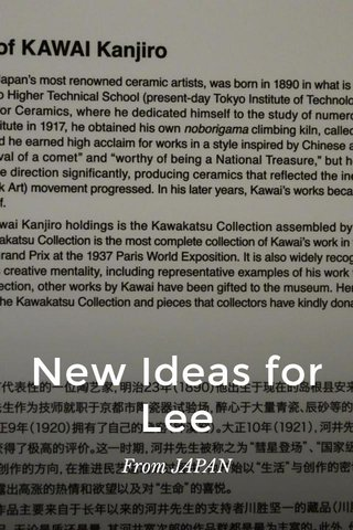New Ideas for Lee From JAPAN