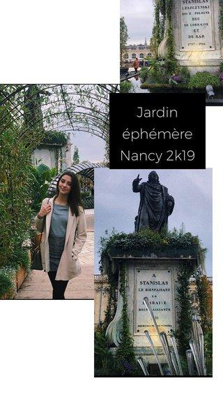Jardin éphémère Nancy 2k19