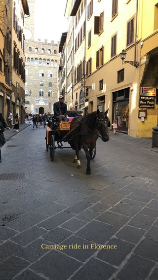 Carriage ride in Florence