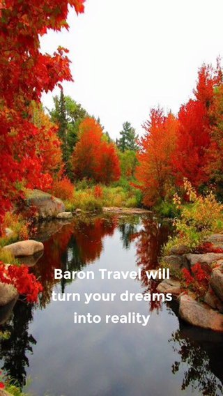 Baron Travel will turn your dreams into reality