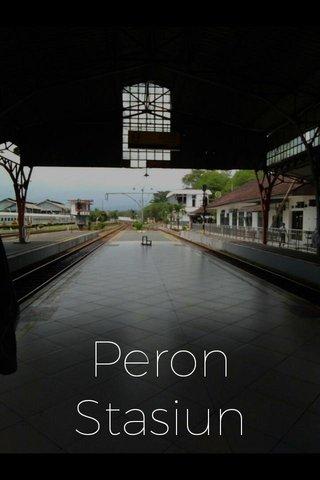 Peron Stasiun