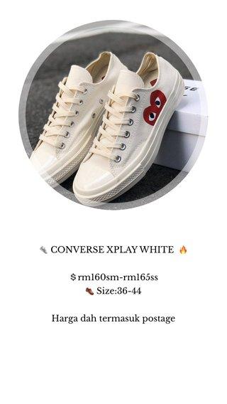 👟 CONVERSE XPLAY WHITE 🔥 💲rm160sm-rm165ss 👞 Size:36-44 Harga dah termasuk postage