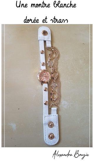 Une montre blanche dorée et strass Alexandra Bougie -ROBERT LOUIS STEVENSON