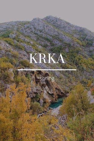 KRKA spring