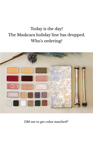 Today is the day! The Maskcara holiday line has dropped. Who's ordering? DM me to get color matched*