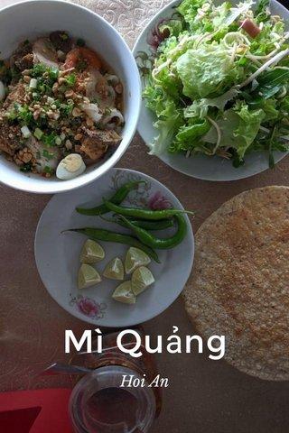 Mì Quảng Hoi An