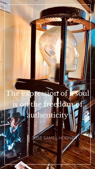 The expression of a soul is on the freedom of authenticity - JOSE SAMEL HORNER