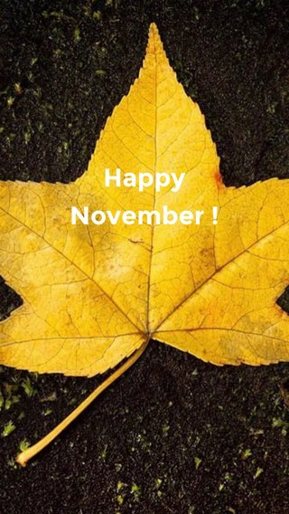 Happy November !