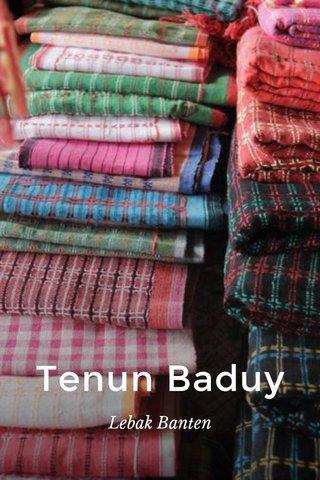Tenun Baduy Lebak Banten