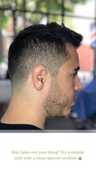 Skin fades not your thing? Try a simpler style with a clean tapered neckline 👍🏽