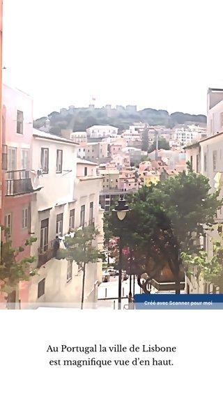Au Portugal la ville de Lisbone est magnifique vue d'en haut.