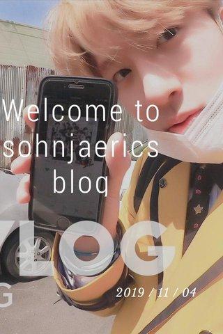 Welcome to sohnjaerics blog 2019 / 11 / 04