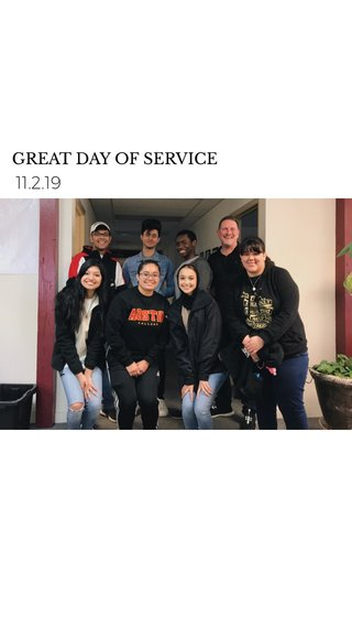 11.2.19 GREAT DAY OF SERVICE