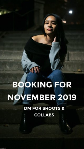 DM FOR SHOOTS & COLLABS