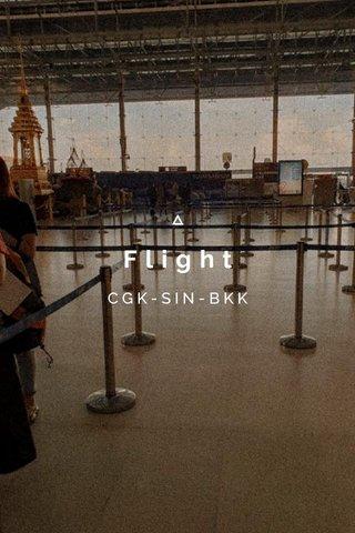 Flight CGK-SIN-BKK