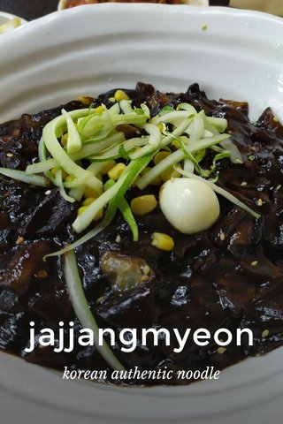 jajjangmyeon korean authentic noodle