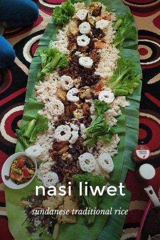nasi liwet sundanese traditional rice