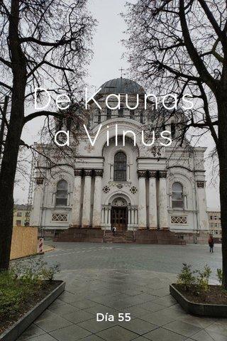 De Kaunas a Vilnus Día 55