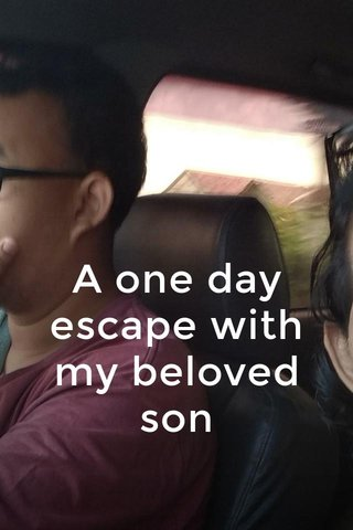 A one day escape with my beloved son