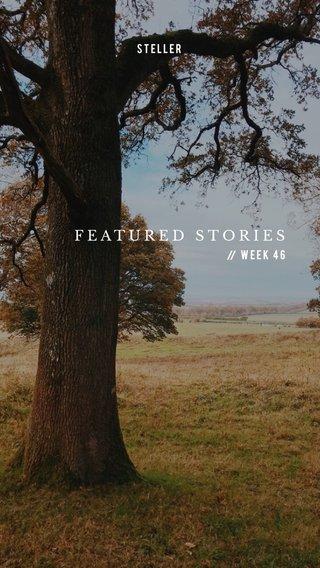 FEATURED STORIES Week 46 STELLER //