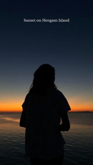 Sunset on Hengam Island