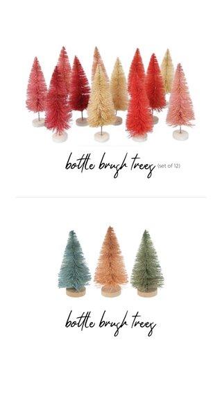 bottle brush trees bottle brush trees (set of 12)