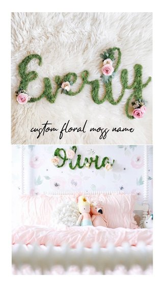 custom floral moss name