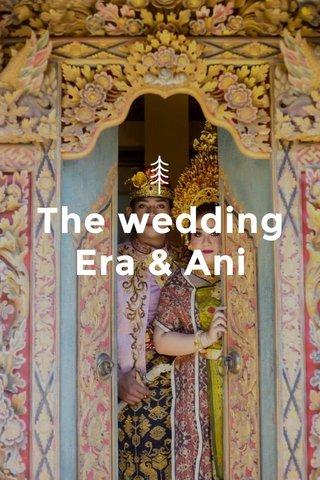 The wedding Era & Ani
