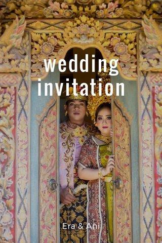 wedding invitation Era & Ani