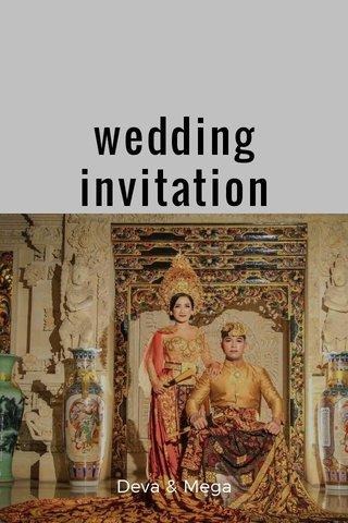 wedding invitation Deva & Mega