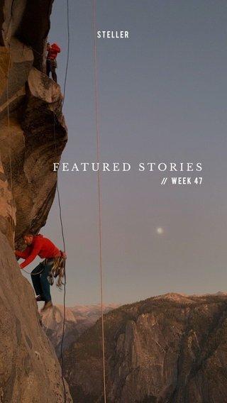 FEATURED STORIES Week 47 STELLER //
