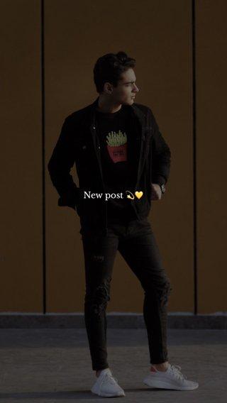 New post 💫💛