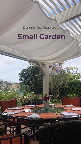 Small Garden Designer Joe Ruggiero's