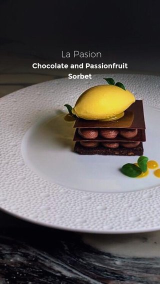 La Pasion Chocolate and Passionfruit Sorbet