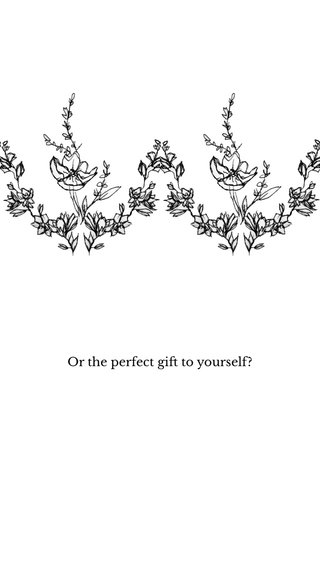 Or the perfect gift to yourself?